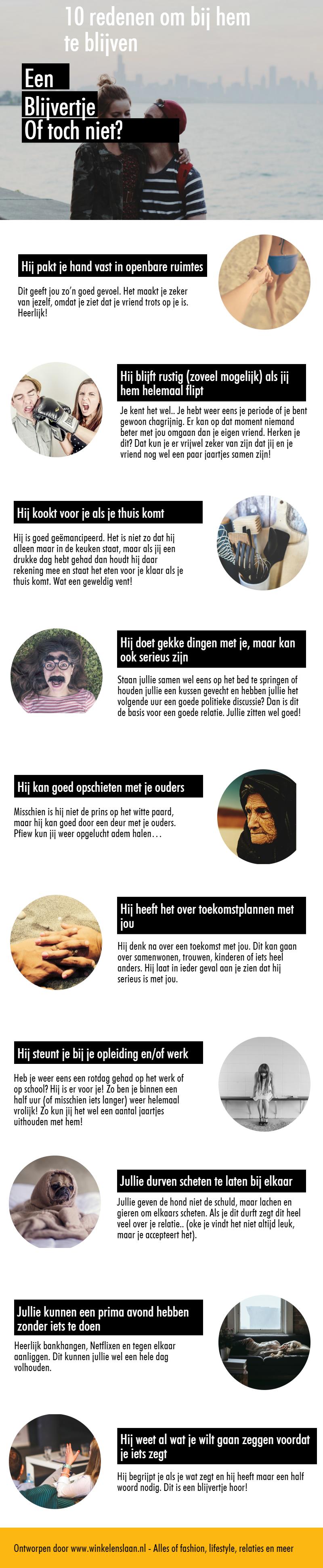 infographic 10 redenen waarom hij bij je past